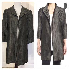 Eileen Fisher Groove Texture High Collar Coat